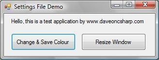 Settings Demo Form