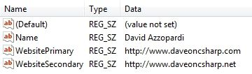 Registry Key Values